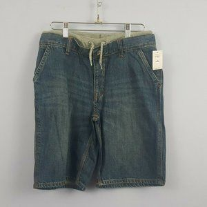Gap Kids Shorts Blue Jeans with gray waist Size 14